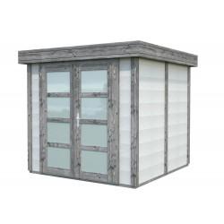 Abri de jardin en béton EMMA 9,83 m2 graphite blanc