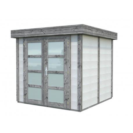 Abri de jardin en béton EMMA 4,37 m2 graphite blanc