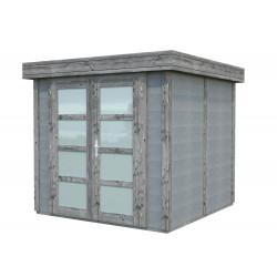 Abri de jardin en béton EMMA 9,83 m2 graphite gris