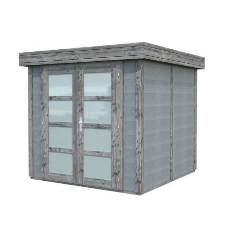 Abri de jardin en béton EMMA 4,37 m2 graphite gris