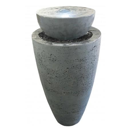 Fontaine de jardin en béton fibré Coupole 42 x 42 x 80 cm gris