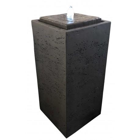 Fontaine de jardin en béton fibré Pillar 35 x 35 x 75 cm brun