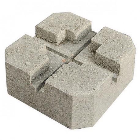 Plot de terrasse en béton 24 x 24 x 10 cm gris