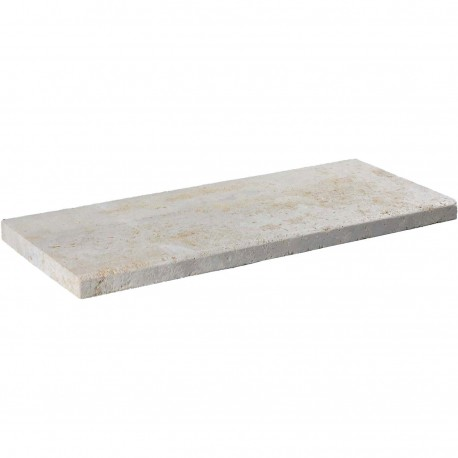 Margelle en pierre naturelle bord chanfreiné droite 60 x 25 x 3 cm