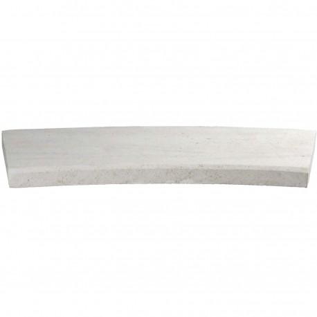 Margelle en pierre naturelle bord chanfreiné courbe 60 x 28 x 3 cm
