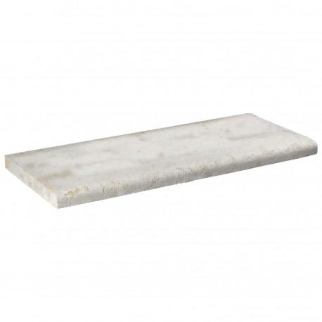 Margelle en pierre naturelle bord quart de rond droite 60 x 25 x 3 cm