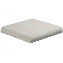 Margelle en pierre naturelle bord quart de rond angle sortant 25 x 25 x 3 cm