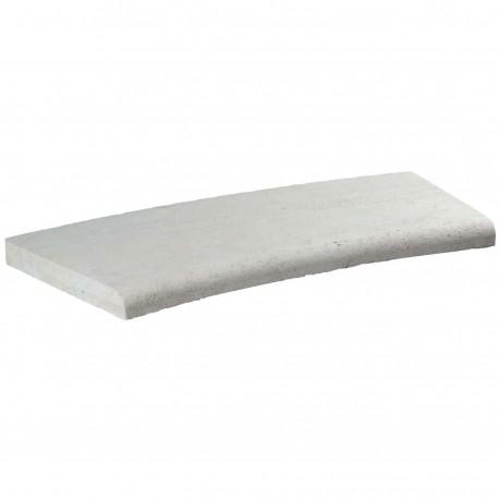 Margelle en pierre naturelle bord quart de rond courbe 60 x 28 x 3 cm