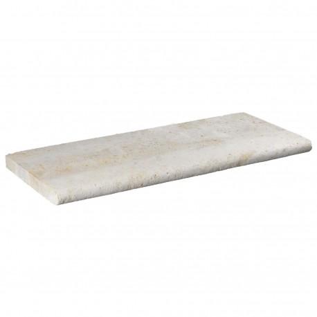 Margelle en pierre naturelle bord demi rond droite 60 x 25 x 3 cm