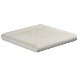Margelle en pierre naturelle bord demi rond angle sortant 25 x 25 x 3 cm