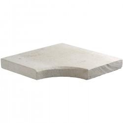 Margelle en pierre naturelle bord chanfreiné angle rentrant 38 x 38 x 4 cm