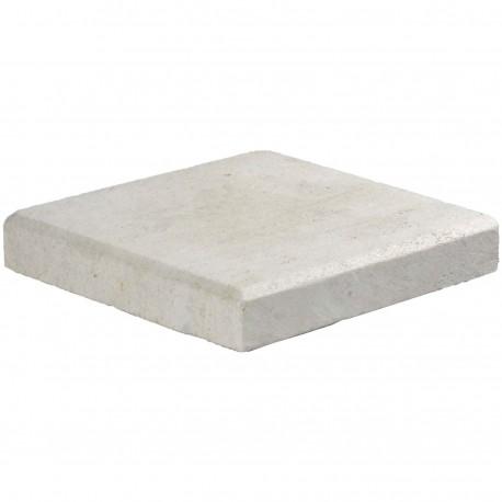 Margelle en pierre naturelle bord chanfreiné angle sortant 25 x 25 x 4 cm
