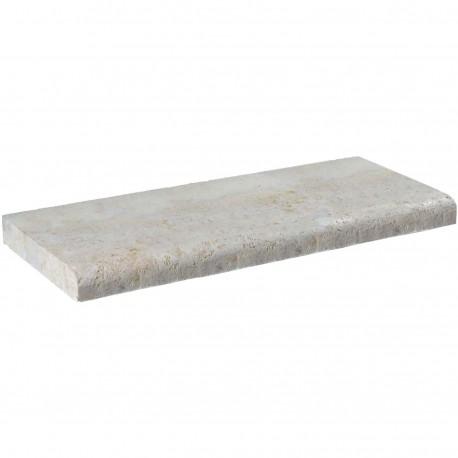 Margelle en pierre naturelle bord quart de rond droite 60 x 25 x 4 cm