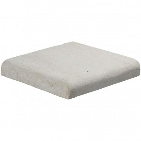 Margelle en pierre naturelle bord quart de rond angle sortant 25 x 25 x 4 cm
