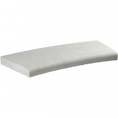 Margelle en pierre naturelle bord quart de rond courbe 60 x 28 x 4 cm
