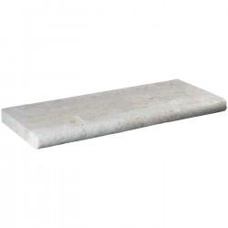 Margelle en pierre naturelle bord demi rond droite 60 x 25 x 4 cm