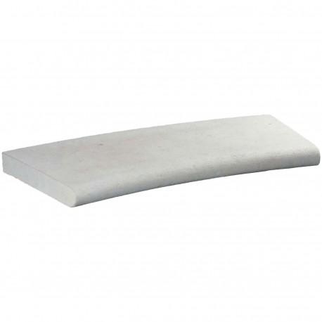Margelle en pierre naturelle bord demi rond courbe 60 x 28 x 4 cm