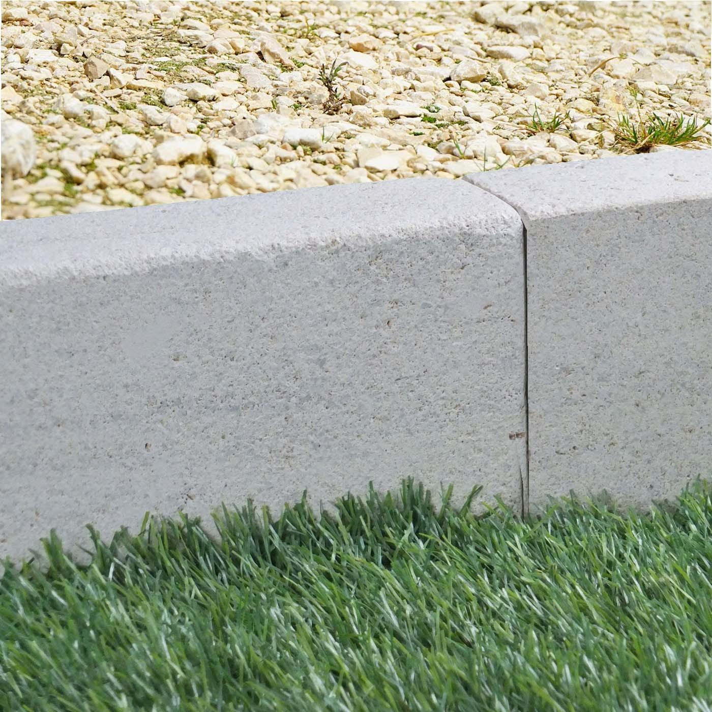 Bordure De Jardin En Pierre Naturelle Brosse 50 X 6 X 12 Cm