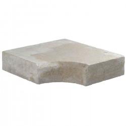 Margelle en pierre naturelle bord chanfreiné angle rentrant 38 x 38 x 8 cm