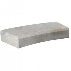Margelle en pierre naturelle bord chanfreiné courbe 60 x 28 x 8 cm