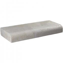 Margelle en pierre naturelle bord quart de rond droite 60 x 25 x 8 cm