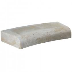 Margelle en pierre naturelle bord quart de rond courbe 60 x 28 x 8 cm