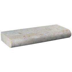 Margelle en pierre naturelle bord demi rond droite 60 x 25 x 8 cm