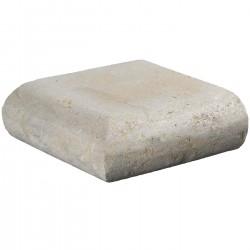 Margelle en pierre naturelle bord demi rond angle sortant 25 x 25 x 8 cm