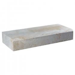 Margelle en pierre naturelle bord chanfreiné droite 60 x 25 x 12 cm