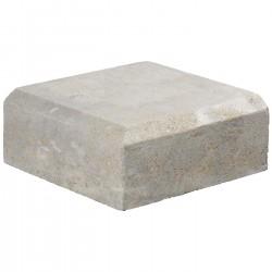 Margelle en pierre naturelle bord chanfreiné angle sortant 25 x 25 x 12 cm