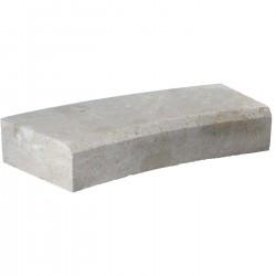 Margelle en pierre naturelle bord chanfreiné courbe 60 x 28 x 12 cm