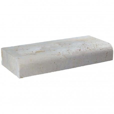 Margelle en pierre naturelle bord quart de rond droite 60 x 25 x 12 cm