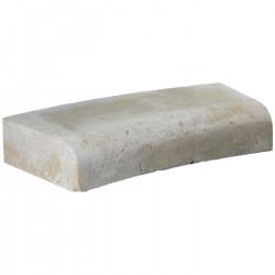 Margelle en pierre naturelle bord quart de rond courbe 60 x 28 x 12 cm