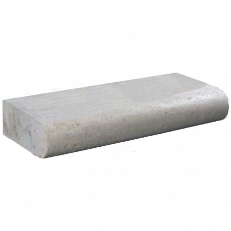 Margelle en pierre naturelle bord demi rond droite 60 x 25 x 12 cm