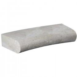 Margelle en pierre naturelle bord demi rond courbe 60 x 28 x 12 cm