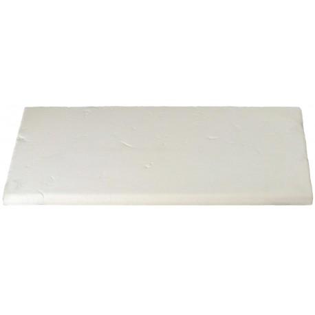 Margelle en pierre reconstituée plate droite 50 x 25 x 2,5 cm Blanc
