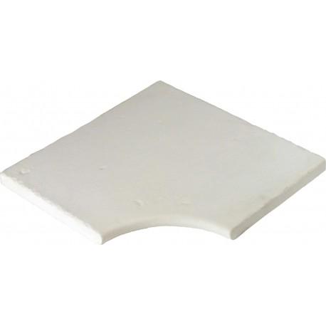 Margelle en pierre reconstituée plate angle rentrant 25 x 25 x 2,5 cm blanc