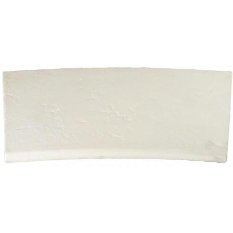 Margelle en pierre reconstituée plate courbe 38 x 25 x 2,5 cm blanc