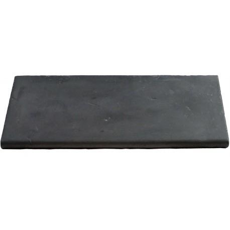 Margelle en pierre reconstituée plate droite 50 x 25 x 2,5 cm gris anthracite