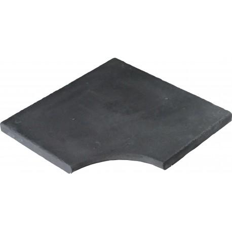 Margelle en pierre reconstituée plate angle rentrant 25 x 25 x 2,5 cm gris anthracite