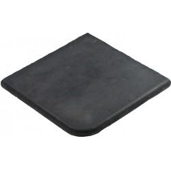 Margelle en pierre reconstituée plate angle sortant 25 x 25 x 2,5 cm gris anthracite