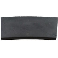 Margelle en pierre reconstituée plate courbe 38 x 25 x 2,5 cm gris anthracite
