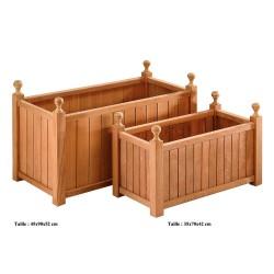 Jardinière en bois rectangulaire 45 x 90 x 52 cm