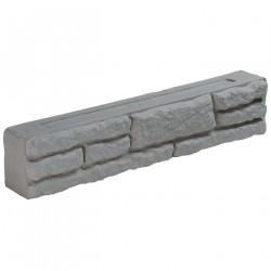 Bloc muret en pierre reconstituée 50 x 9 x 10 cm gris clair