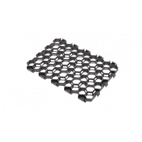 Dalle à engazonner 54,5 x 38 x 3,2 cm noire, résistance : 170 T/M2