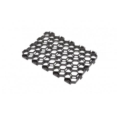 Palette de 4,83 m2 de dalles à engazonner 54,5 x 38 x 3,2 cm gris anthracite, résistance : 170 T/M2