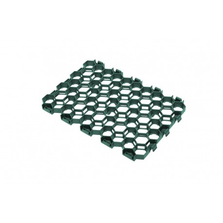 Palette de 9,66 m2 de dalles à engazonner 54,5 x 38 x 3,2 cm verte foncé, résistance : 170 T/M2