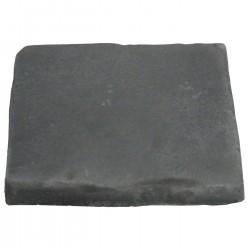 Pavé de terrasse en pierre reconstituée à coller 16 x 16 x 1,8 cm gris anthracite