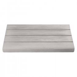 Margelle en pierre reconstituée droite aspect bois blanchi 50 x 29,5 x 3,5 cm