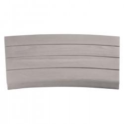 Margelle en pierre reconstituée courbe aspect bois blanchi 41 x 29,5 x 3,5 cm